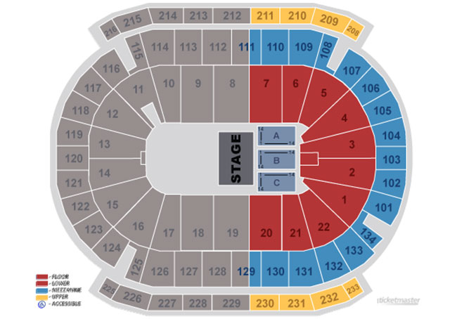 seatingtheater seating maps and charts prudential center newark nj
